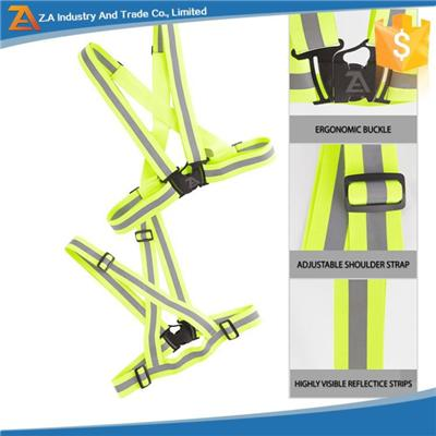 Customized Logo Reflective Vest Belt For Running Jogging Walking Cycling