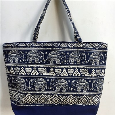 Elephant Design, Canvas Beach Bag ,JH16024