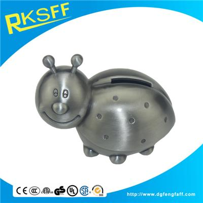Zinc Alloy Beetle Coin Bank