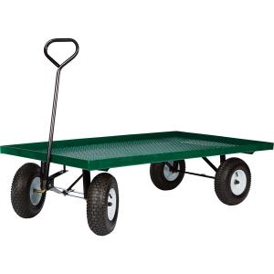 Metal Deck Garden Cart