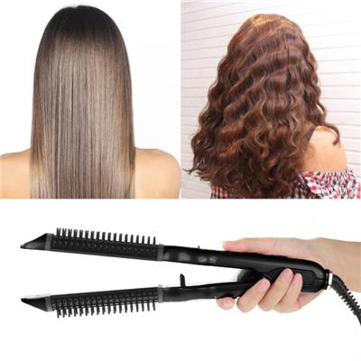 Black Electric Hair Straightener And Curler Can Make Natural Wave