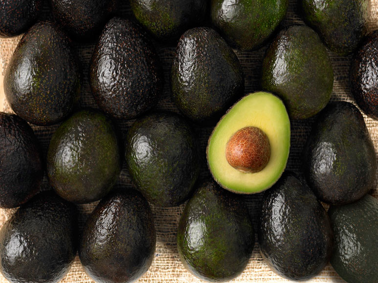 Fresh thick avocados