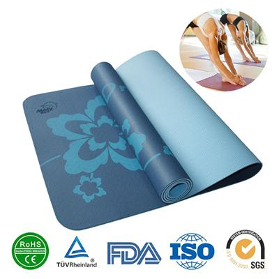 Wholesale ECO health exercise TPE yoga mat sport floor mats yoga pad for gym,home, outdoor games