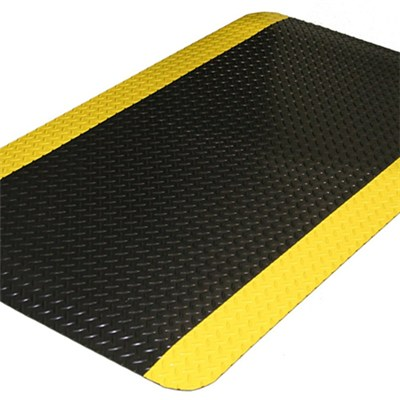 Anti-slip&stain resistant industrial standing mats size&color customized anti fatigue industrial mats floor mats for work, mark yellow edge for warning