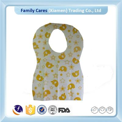 Soft Non Woven Disposable FDA grade Baby Bibs