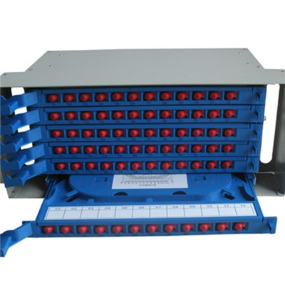 72 Fiber SC/ST/FC/LC Adapters Fiber Optic Splicing And Distribution Unit