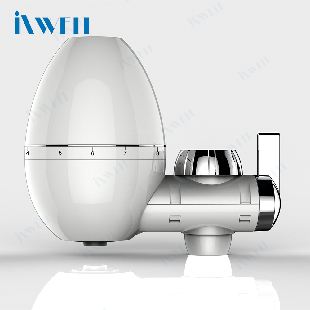 Faucet mounted water purifier with ceramic filter cartridge ABS shell for home kitchen