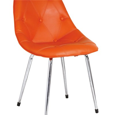 Orange Commercial Leather Bar Chair
