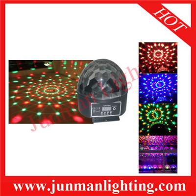 6*3w LED Crystal Ball Light Effect Party DJ Light