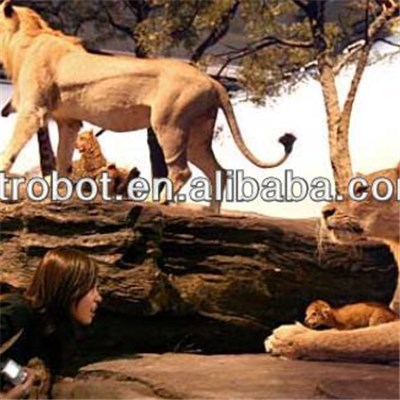 Playground Decoration Simulated Animal Lion