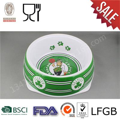 Custom Printing Melamine Portable Dog Bowl