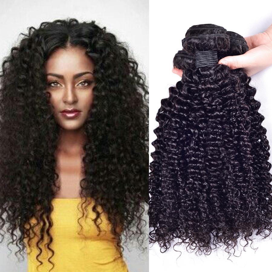 China Virgin Mongolianbrazilian Kinky 4c Curly Human Hair Weaving