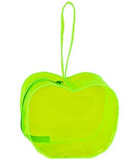 Cute apple shape, colourful PVC makeup bags, cosmetic bag( Grass Green)