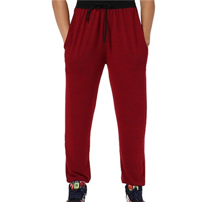 Winter Wine Red Jogger Pants