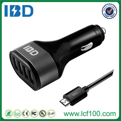 4 Port Car Charger