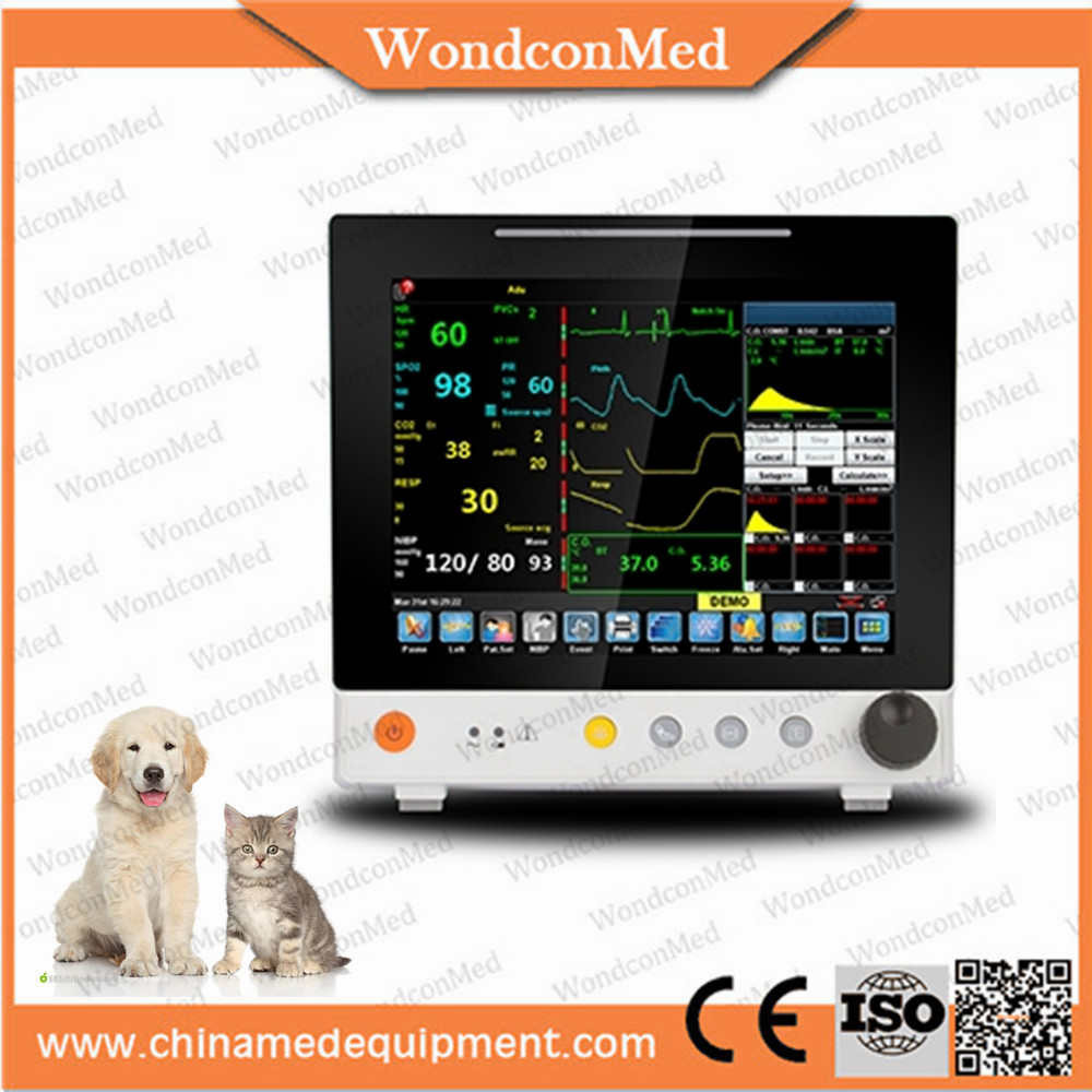 WMV650C 12 inch TFT touch screen Veterinary portable Patient monitor