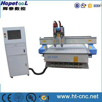 Two Heads Pneumatic ATC Change CNC Router 1325