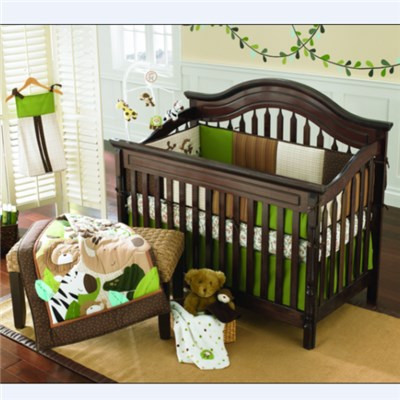 Embroidery Applique Gender Neutral Crib Bedding Set With Short Delivery Time