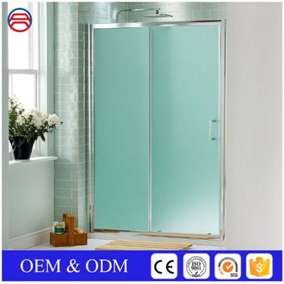 Shower Sliding Doors Aluminum Framed Frosted Glass For Bath