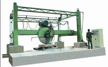 MARBLE STONE BLOCK TWO-WAY CUTTING MACHINE WITH SINGLE-BLADE BY HYDRAULIC