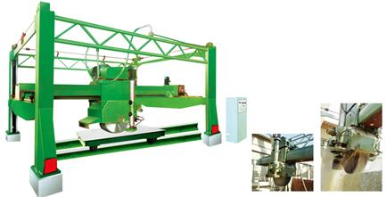 GRANITE BLOCK TWO-WAY CUTTING MACHINE WITH MULTI-BLADE BY ELECTRIC