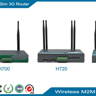 Dual Sim 3G Router, wireless M2M two sim failover router