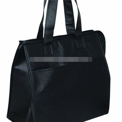 Top Zipper Closure Non Woven Insulated Grocery Cooler Tote Bag
