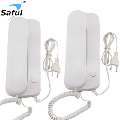 Saful TS-K109 Wired Audio Intercom AC-DC-way Intercom Call