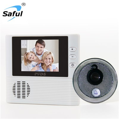 Saful TS-YP3507A 2.8 LCD Digital Peephole Door Viewer Doorphone 0.3mp Anti-theft Alarm Video Night Vision