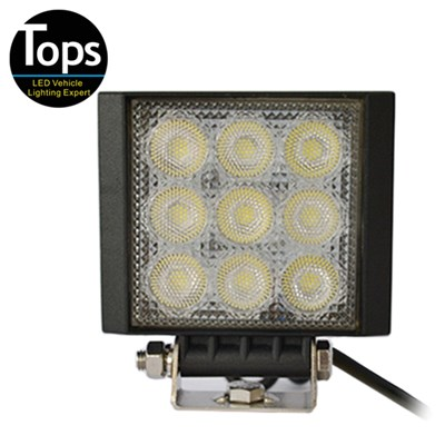 27W Led Square Work Lamp For Off-road Vehicle ATV SUV Agriculture Machine Marine