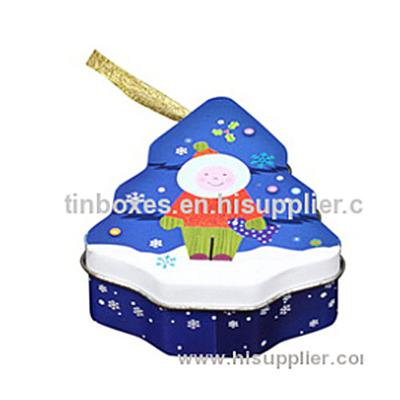 F06002 Christmas Tree Shaped Tin Box