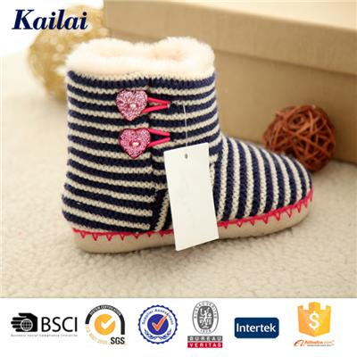 Cashmere Pom Pom Child Shoes