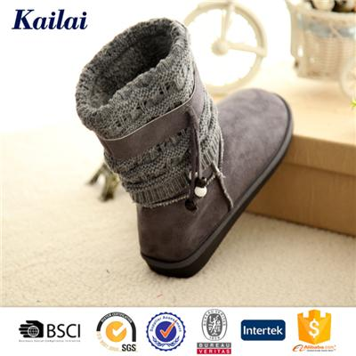 Suede Fabric Cashmere Snow Boot