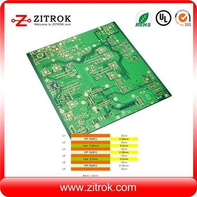Immersion Gold Matte Green 6L 35um PCB Circuit Board