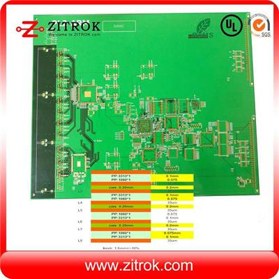 8L FR4 TG180 Immersion Gold Multilayer PCB Board