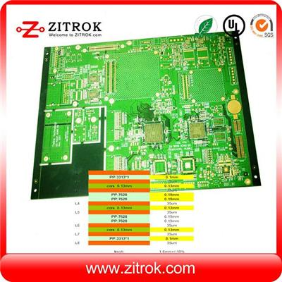 Impedance Control High TG170 Immersion Gold With 8Layer Board