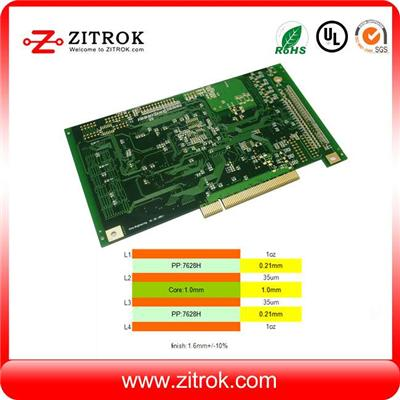 Plated Gold Finger 4Layer Multilayer PCB Board