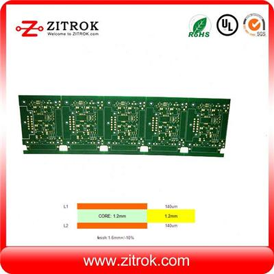 Heavy Copper With 140um Thickness High TG170 Immersion Gold Double-sided Board