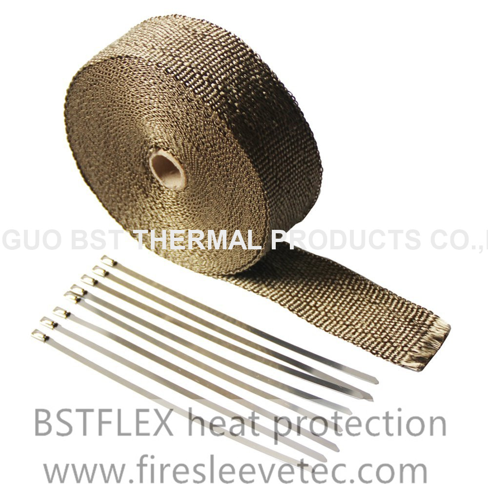 "2"" 50' volcanic rock fiber LAVA exhaust heat wrap"