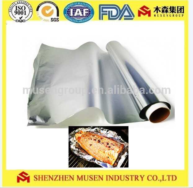 Household Barbecue Use and Baking , Disposable , Eco-Friendly , 8011 Aluminium food packaging Foils Roller