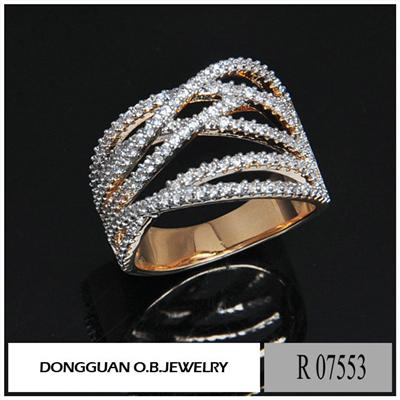 R7553 The Newest Zircon 925 Silver Fashion Jewelry