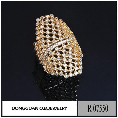 R7550 Big Size Jewelry Gold Plated Brass Men Gay Ring