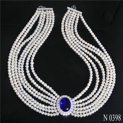 N398 Luxurious Style Expensive Freshwater Pearl Necklace Jewelry