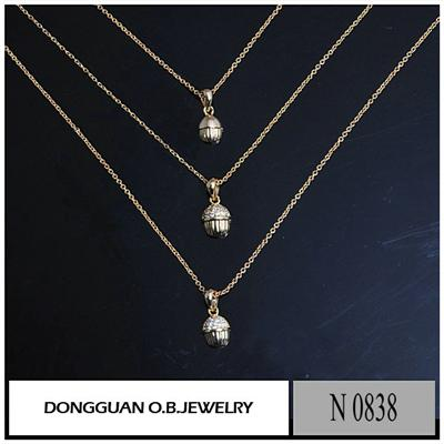 N838 18K Gold Plated Synthetic Diamond Clavicle Chain
