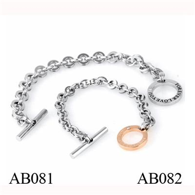 AB081 Make Your Own Fashion Men's Stainless Steel Bracelet