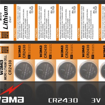 CR2430 Lithium Button Cell Battery
