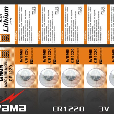 CR1220 Lithium Button Cell Battery