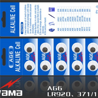 AG6 Alkaline Button Cell Battery