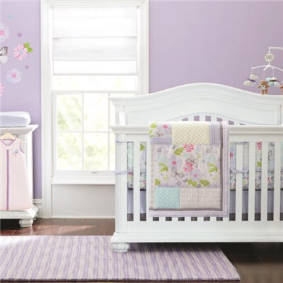Boy Or Girl Gender Neutral Dream Butterlies Crib Bedding Set China Factory 4-14pcs Available
