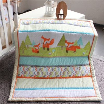 Fox Animal Theme Printed Microfiber Polyester Filled Cheap Baby Comforter